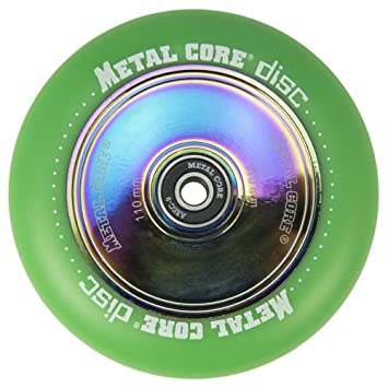 Metal Core Rueda Disc para Scooter Freestyle, Diámetro 110 mm (Verde): Amazon.es: Deportes y aire libre