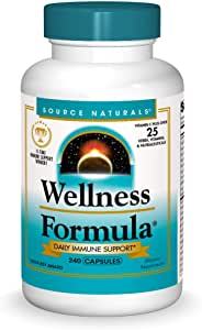 Source Naturals Wellness Formula Bio-Aligned Vitamins & Herbal Defense For Immune System Support - Dietary Supplement & Immunity Booster - 240 Capsules