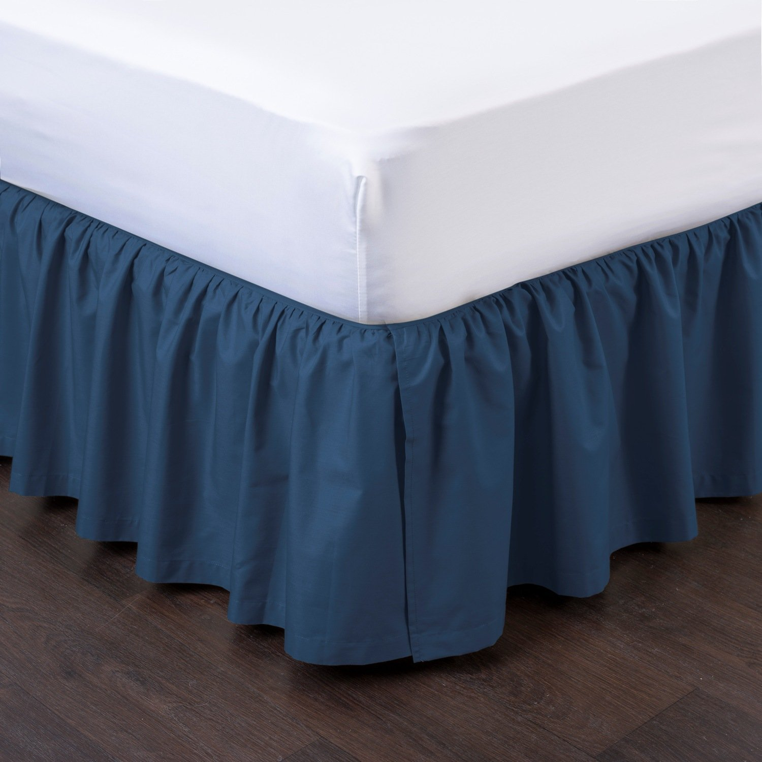 great quality differently outlet for sale Details about Ashton Detachable Bedskirt (Twin Size, Navy, 14