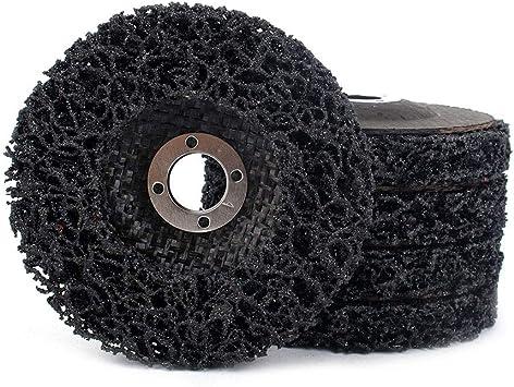 5 discos de amoladora de ángulo de disco de tira de poliéster para limpiar y quitar pintura, óxido y oxidación: Amazon.es: Bricolaje y herramientas