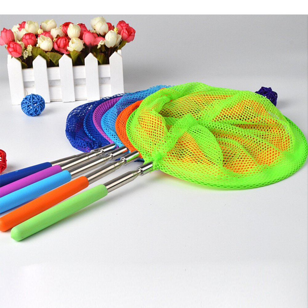 Bug Catcher Nets Fishing Tool for Kids Toy Qiyun Insect Net Extendable Nylon Extendable Nylon Insect Net Telescopic Butterfly Net