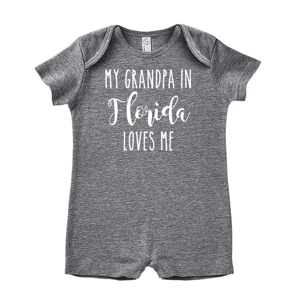 My Grandpa in Florida Loves Me Baby Romper