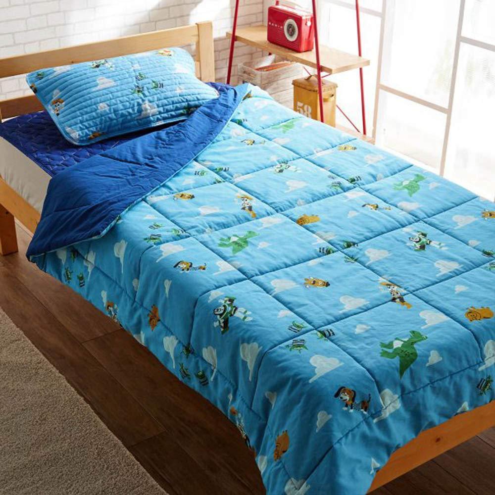 [ベルメゾン] ディズニー キルトケット 3点 セット 枕パッド 敷きパッド キルト ケット トイストーリー 綿100% 洗える お昼寝 B07R3F7LF9