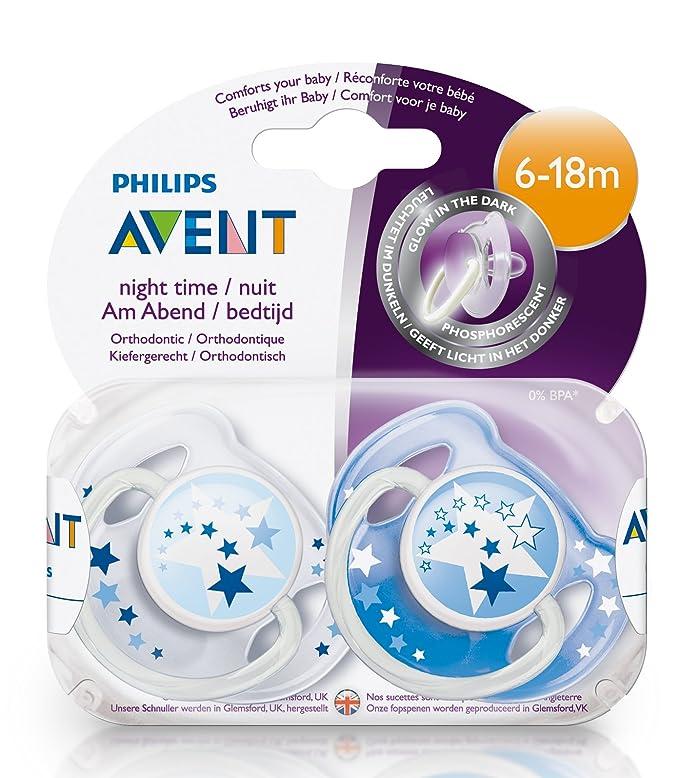 Philips AVENT SCF176/22 - Chupetes nocturnos sin BPA, 2 unidades, 6-18 meses, brilla en la oscuridad: Amazon.es: Amazon Pantry