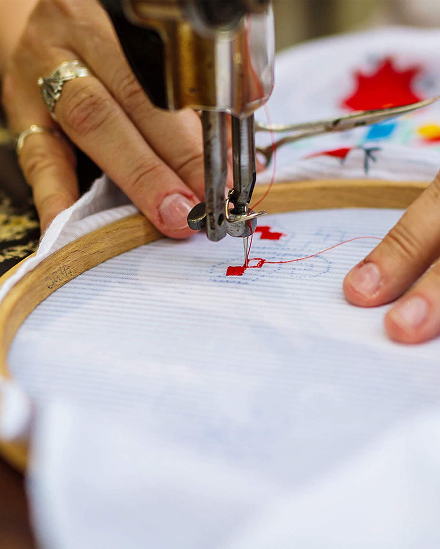 Pllieay 2 Pieces 14 Count Big Size White Aida Cross Stitch Fabric Classic Reserve Aida Cloth 19.6 x 21.6 Inch