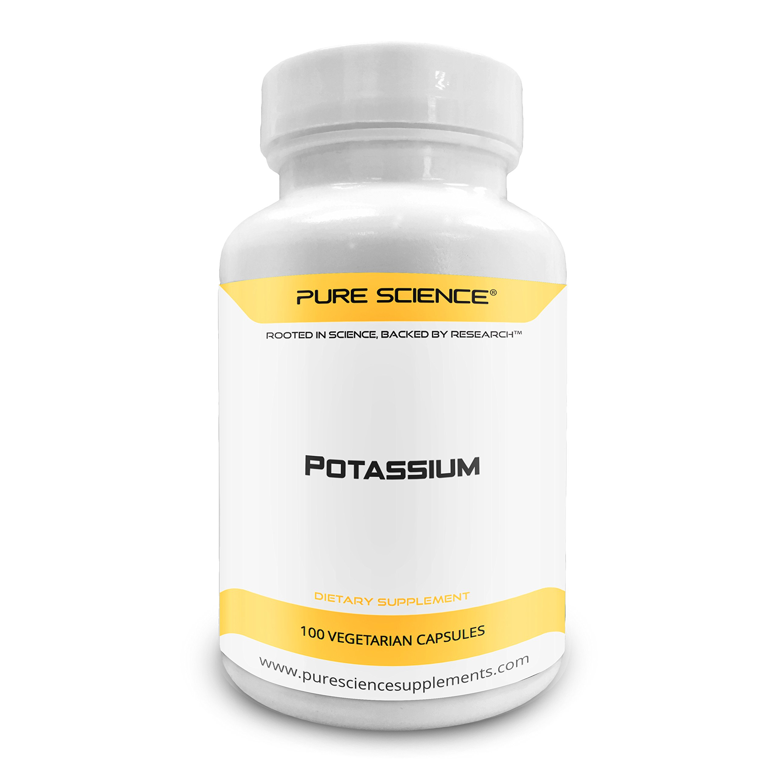 Pure Science Potassium Gluconate 595mg with 5mg BioPerine (Natural Bioavailability Enhancer for better absorption) – Regulates Blood Pressure, Supports Bone & Muscle Maintenance – 100 Vegetarian Caps