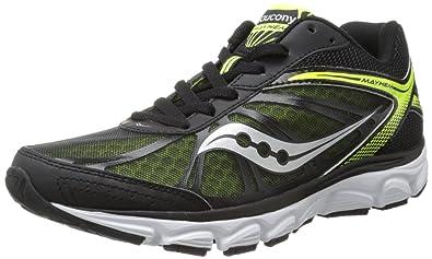 Saucony Men's Mayhem Running Shoe,Black/Citron,7.5 ...