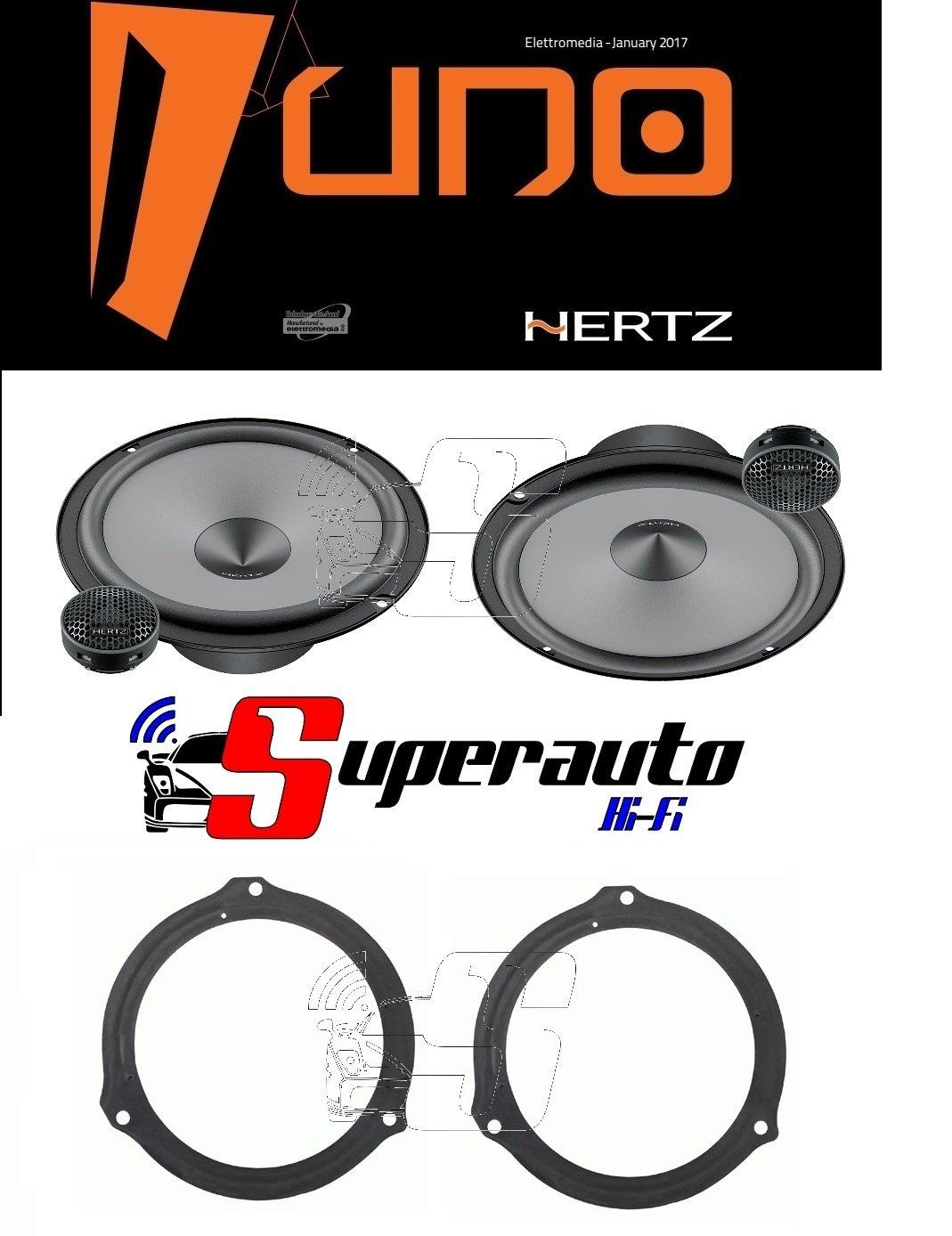 supporti casse FORD Ka dal 2009 Anteriore 165 cm Hertz LINEA UNO Altoparlanti coassiali da 165 mm X165 220 W