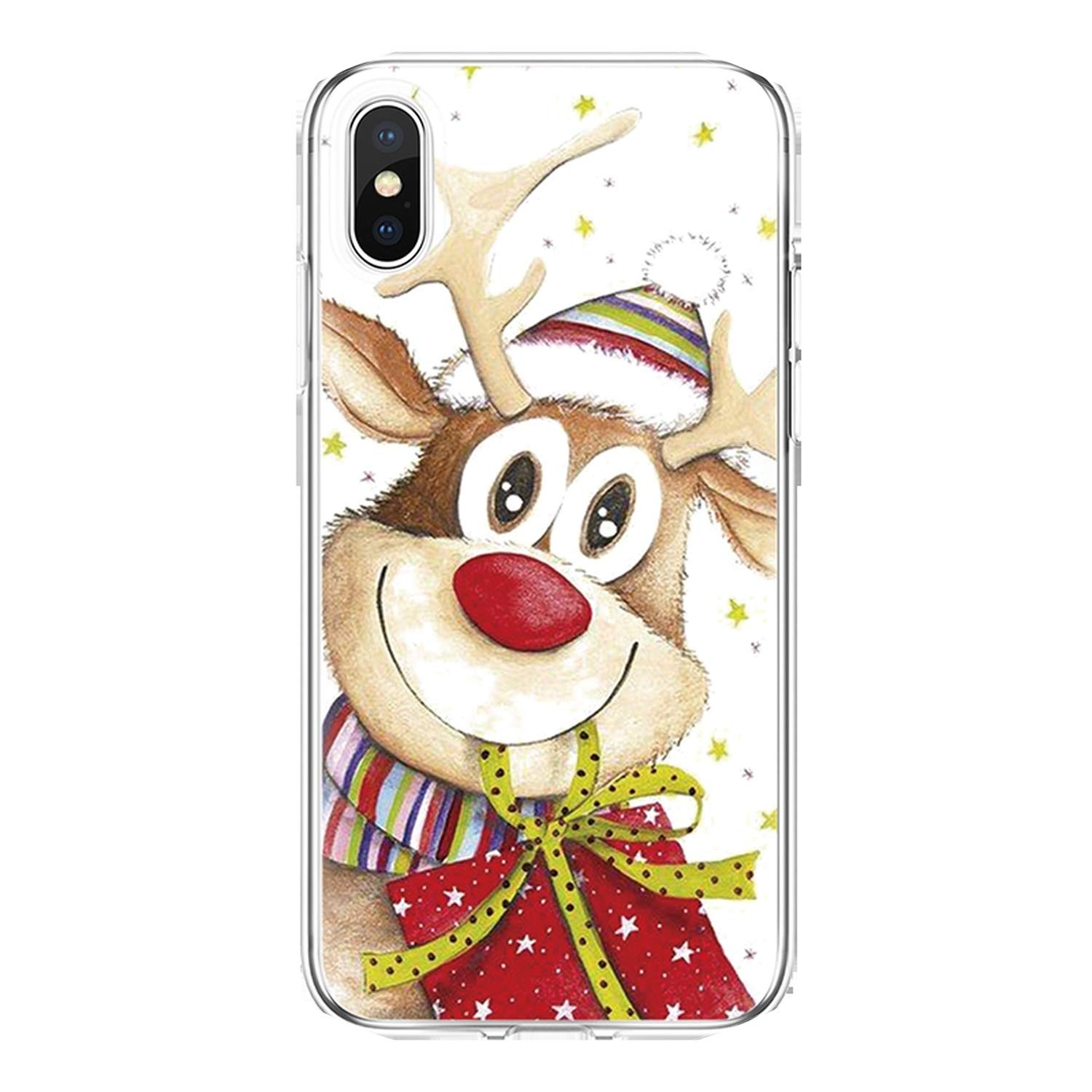 Amazon.com: Xmas Case for iPhone X Xs Max XR 5 SE 6 S 8 ...