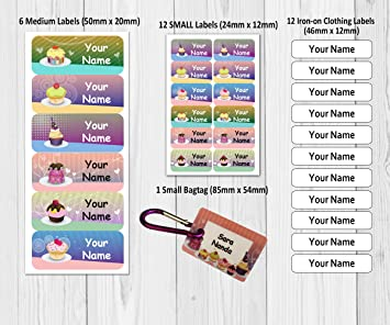 LABELS TAG 45 CARS PERSONALISED NAME STICKERS