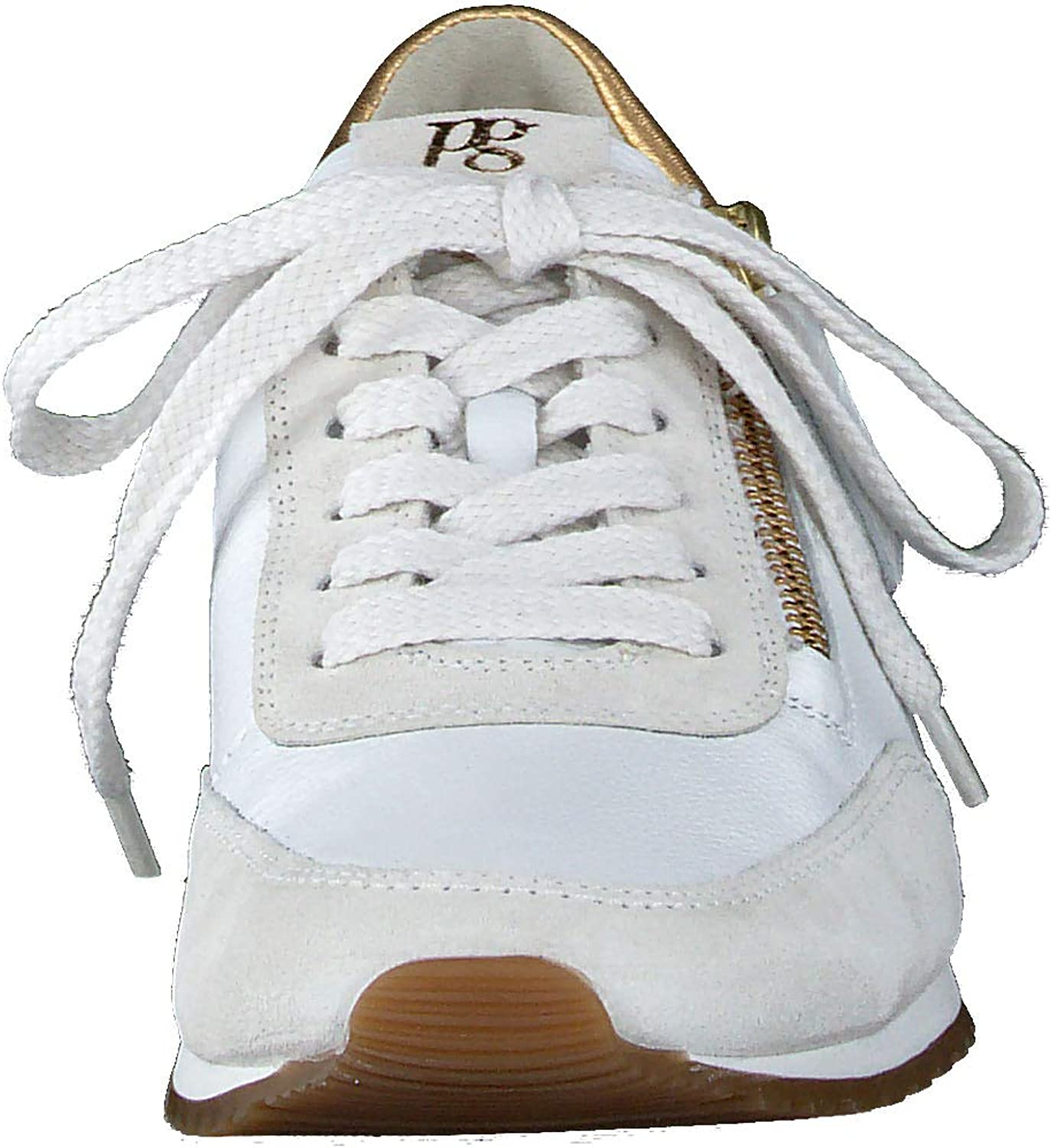 Paul Green Femme Baskets Mode 4979, Dame Faible, Low Blanc Ice White