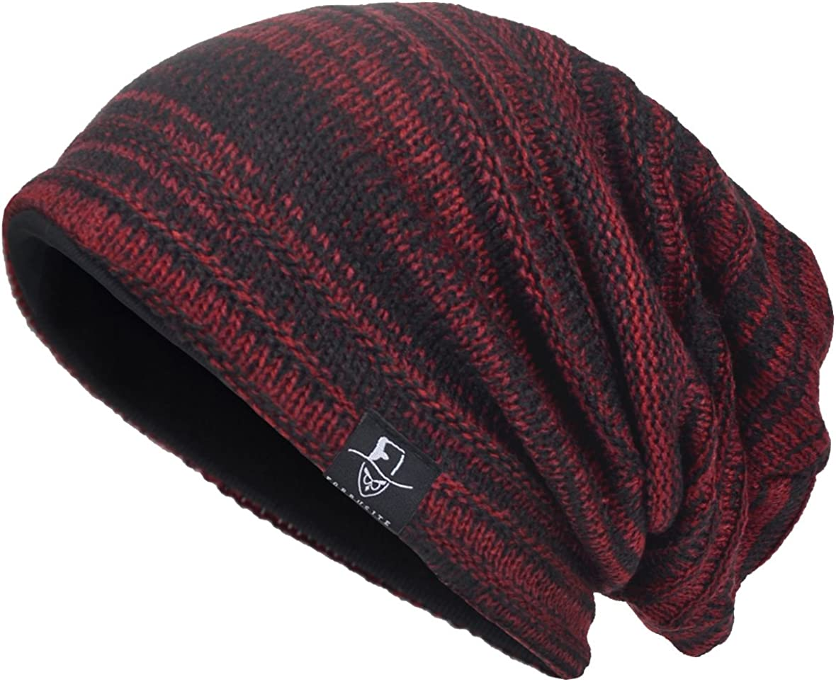 VECRY Men's Cool Cotton Beanie Slouch Skull Cap Long Baggy Hip-hop Winter Summer Hat