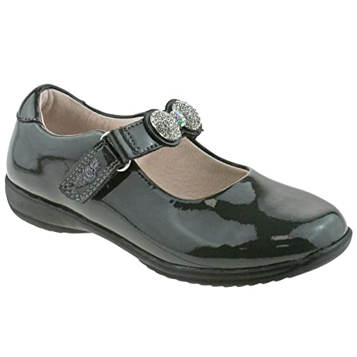 Lelli Kelly LK8304 Mandy Grey Patent Leather School Shoes F Fitting DR01