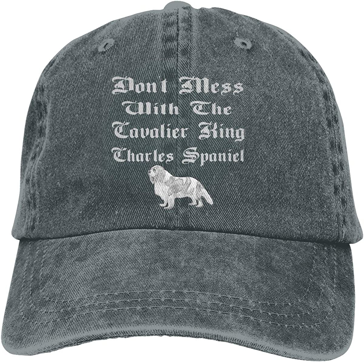 Dont Mess with The Cavalier King Charles Spaniel Baseball Hat Adjustable Jeans Cap Dad Hat