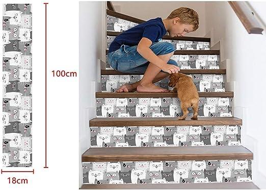 Moent Decoración del hogar Simulación 3D Escalera Pegatinas Pegatinas de Pared Impermeables DIY Decoración del hogar Pegatinas de Pared Decoración de la habitación: Amazon.es: Hogar