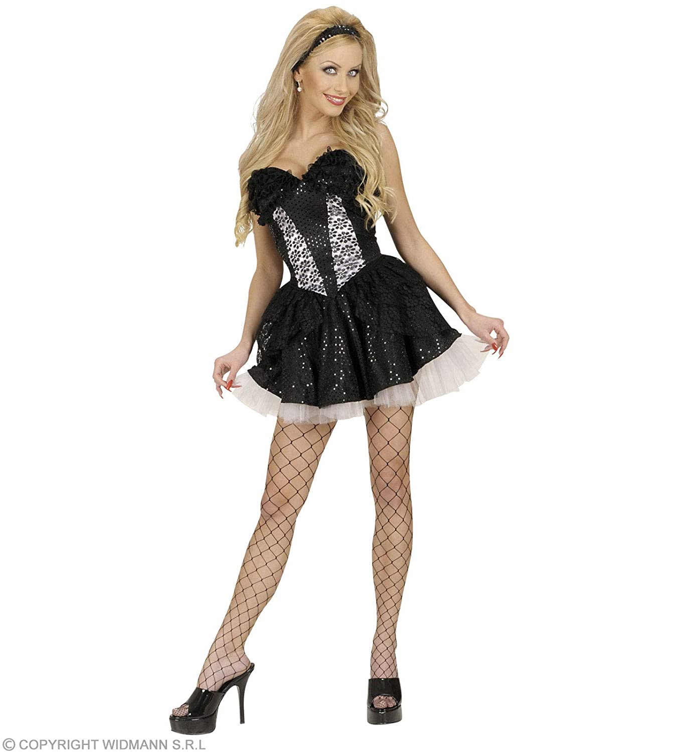 d415787b77c Amazon.com  XL Size Black Sequin   Lace Corsets Costume Extra Large For 80s  Music Madonna  Home Improvement