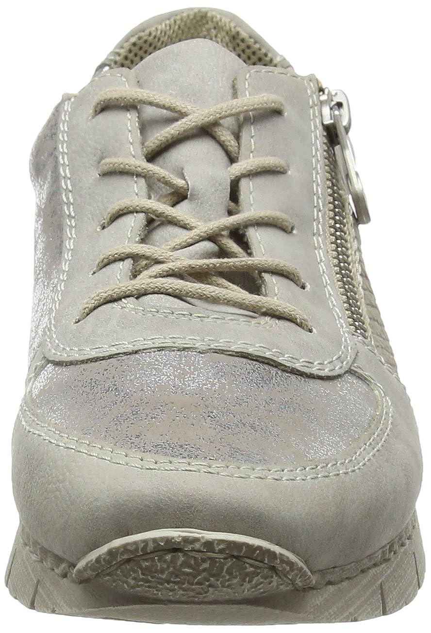 Rieker Sneakers Gris GreySilberHayCrema M2840 Basses Femme ZrZq5