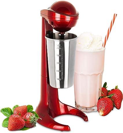 LIVIVO - Máquina para batidos de leche con taza de acero inoxidable de 500 ml, ideal para preparar batidos espumosos, batidos de proteínas, mezclas de ...