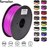 Pxmalion PLA 3D Filament, Purple, 1.75mm, Accuracy +/- 0.03mm, Net Weight 1KG(2.2LB), Compatible with most 3D Printer & 3D Printing Pen