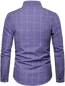 Hombre Camisa, ZODOF Camiseta para Hombre Casual Manga Larga ...