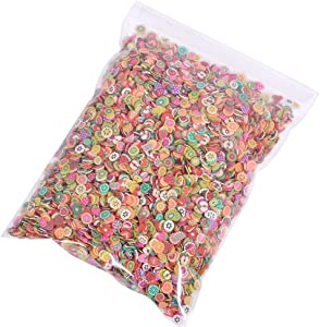 10000pcs Tiny Slime Charms Cute Set, Charms for Slime Assorted Fruits Apple Strawberry Blueberry Watermelon and More for Nail Art Craft Making, Ornament Scrapbooking DIY Crafts (Multicolor Fruits)