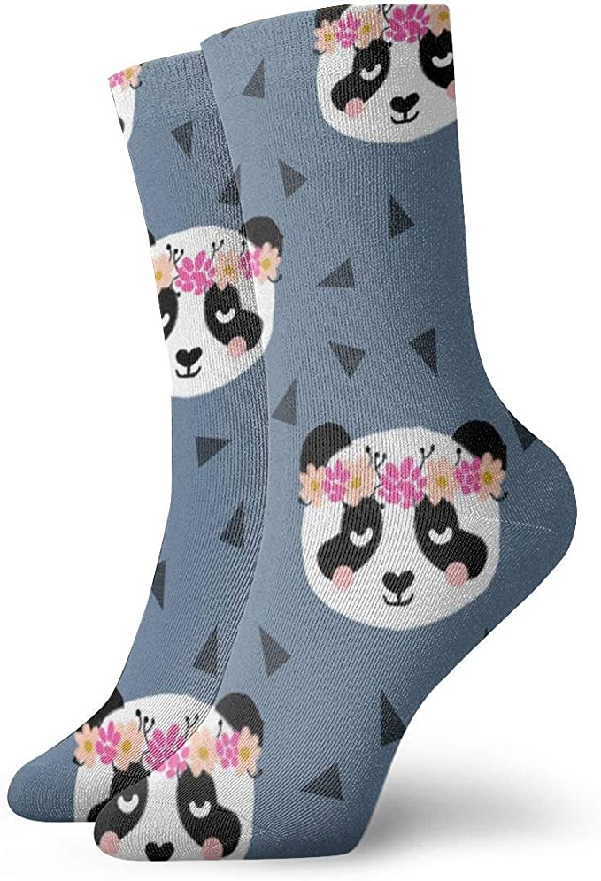 Huabuqi Calcetines Fantasy Woman Panda Flowers Blue_3688 ...