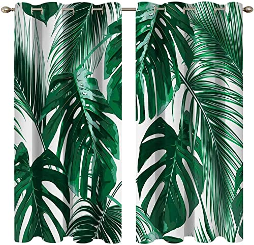 Mimihome Leaf Window Curtain 2 Panel