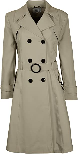 6709f8163 Kentex Online Women s Double Breasted Long Fit   Flare Winter Coat with  Lining ...