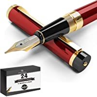 DRYDEN Luxury Fountain Pen with Ink Refill Converter - Smooth & Elegant, Set for Calligraphy Writing, Signature, Journal…