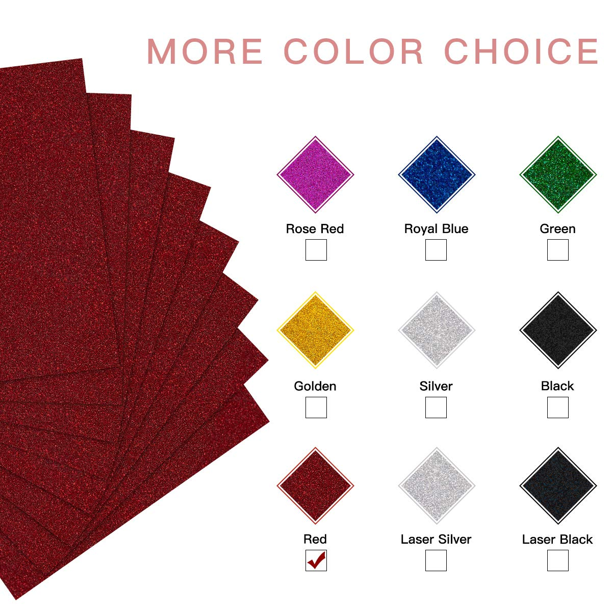 Black Glitter Heat Transfer Vinyl HTV Easy to Cut /& Press 8 Sheets 12in x 10ft Black Iron On Glitter HTV Vinyl for Cricut /& Silhouette Cameo