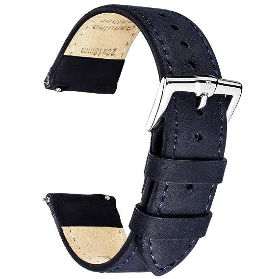 bdeba5e88a52 B&E Correas de Reloj Cuero Reemplazo Prima Reloj Pulsera Bandas para ...