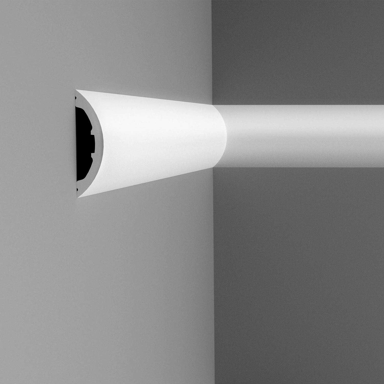 Amazon Com Orac Decor High Density Polyurethane Panel Chair Rail Wainscot Moulding Primed White 4 7 8 H X 78 Long Home Improvement