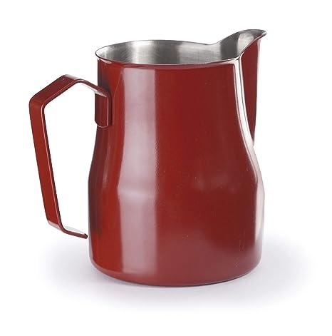 Lacor 58250 - Lechera para baristas en Acero Inoxidable 18/10, 05 L, Rojo