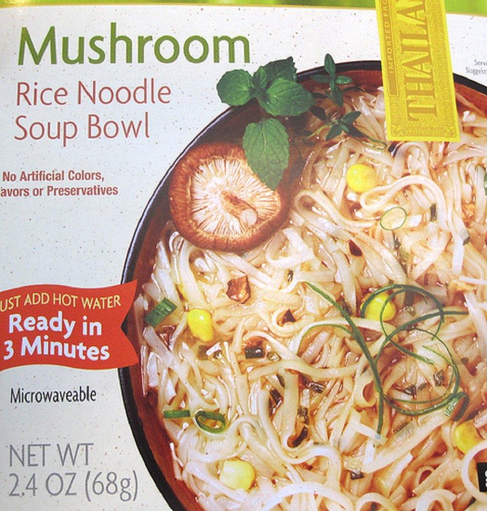 Amazon Com Trader Joe S Mushroom Rice Noodle Soup Bowl 2 4 Oz Pack Of 6 Miso Soups Grocery Gourmet Food
