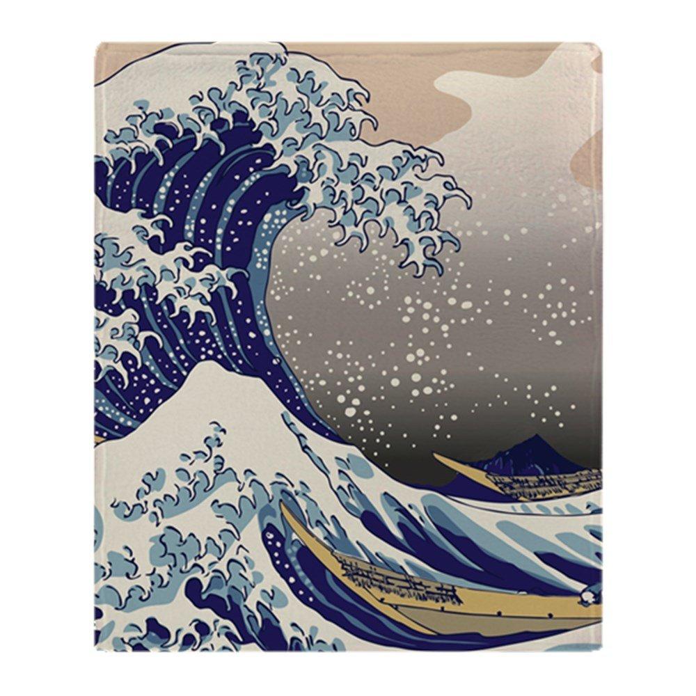 CafePress – Hokusai The Great Wave off Kanagawa – ソフトフリーススローブランケットブランケット、50