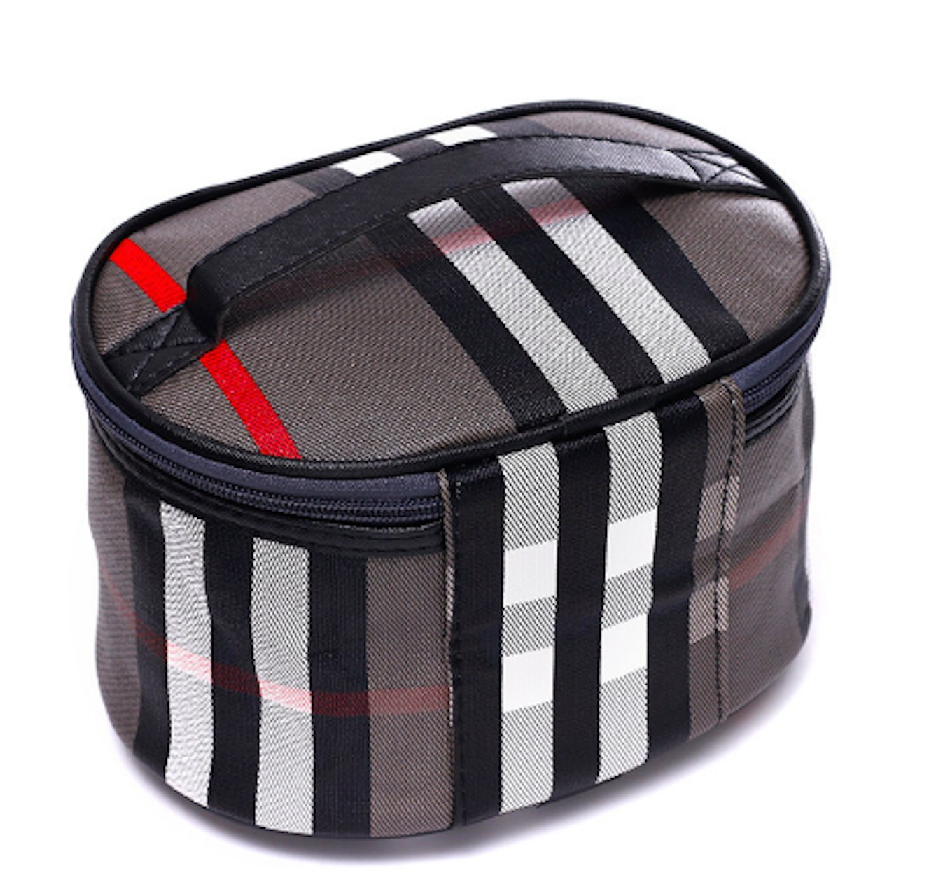 ts-store Cosmetic Bag Travel Makeup Organizer Cosmetic Case Train Case for Women Case Multifunction Pouch for Women (grey) toiletry brush magic tote box carrier tool holder makeupbox handbag compact