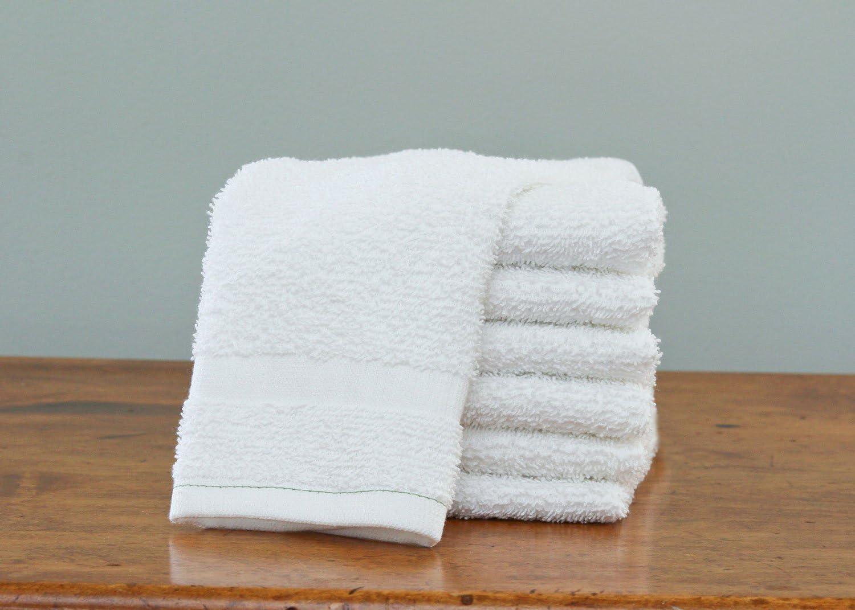 12 new white hotel grade cotton blend home soft bath towels 24x48 11# per dz