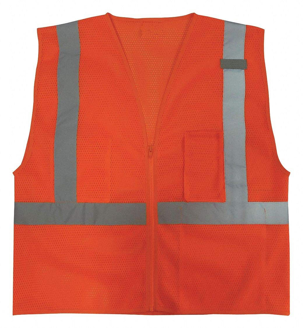 Orange CONDOR 3ZDT9 High Visibility Vest M Class 2