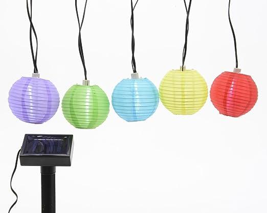 Time for Home LED Solar 10 Luz Cadena – Esfera Exteriores Exterior o Interior jardín luz Cadena Guirnalda farolillos Verano Jardín Iluminación: Amazon.es: Juguetes y juegos