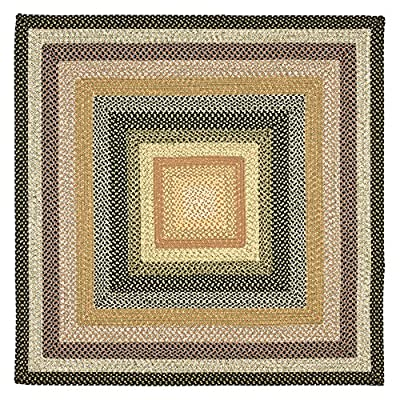 Safavieh Braided Collection BRD308A Hand Woven Blue and Multi Area Rug