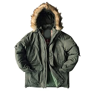 bee7a9ddc113 Down Jacket Men Military Cotton Fabric White Duck Down Thick Outwear  Waterproof Men Down Parka Jackets