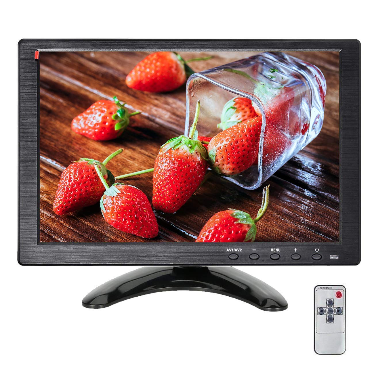 10.1Inch Portable Security Monitors HDMI Displays YUZES 1024 x 600 Resolution TFT LCD Video Screen with VAG AV USB BNC Input Remote Controller for PC Mini Small TV Camera Laptop IPS Cheap Monitor