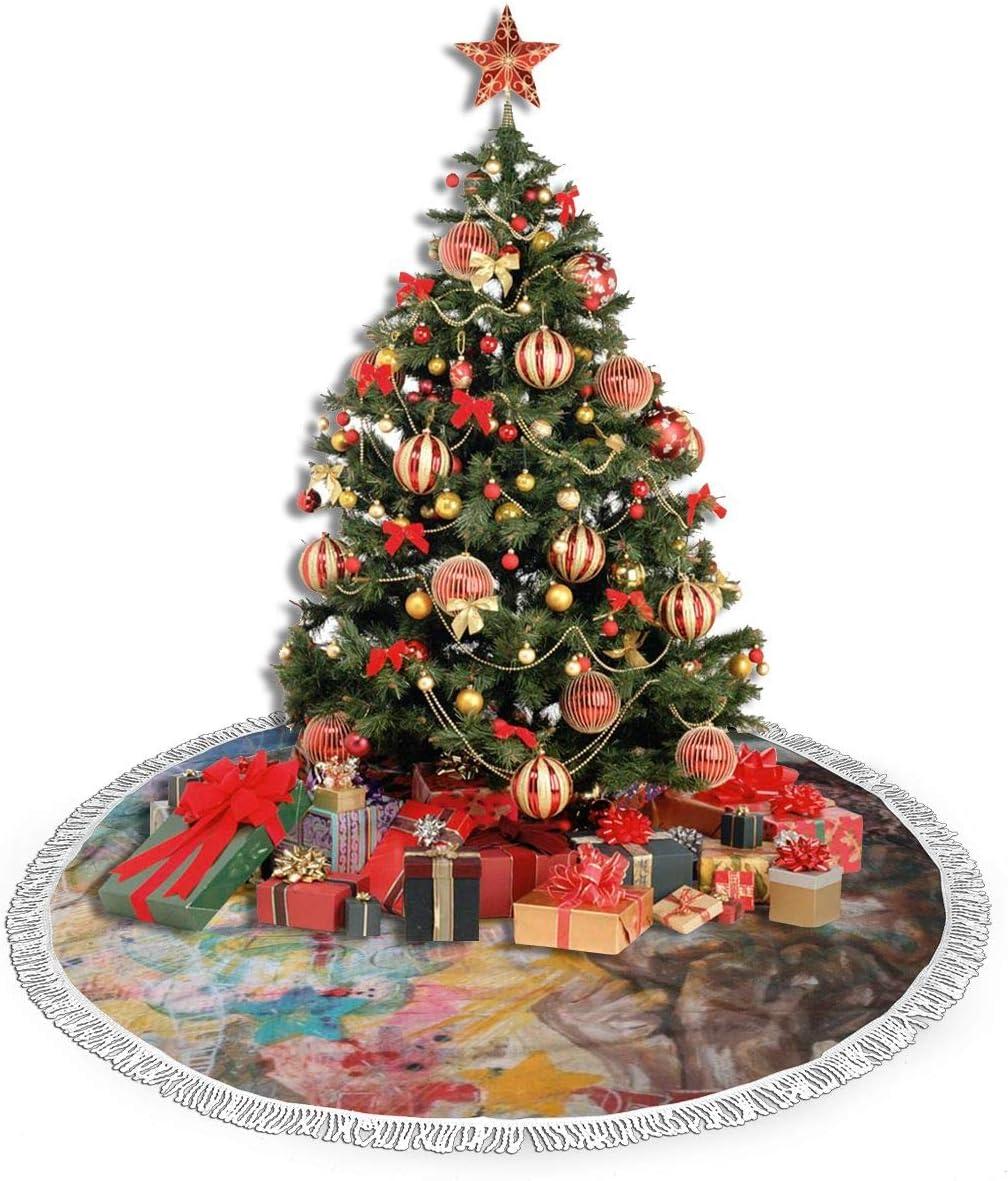 Amazon.com: July-Seven African-American Christmas Tree Skirt