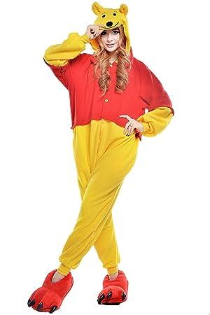 Cartoon One Pijamas TELLOYSD Animal Adulto Cosplay Costume Casual Chándal, Diseño de Winnie the Pooh