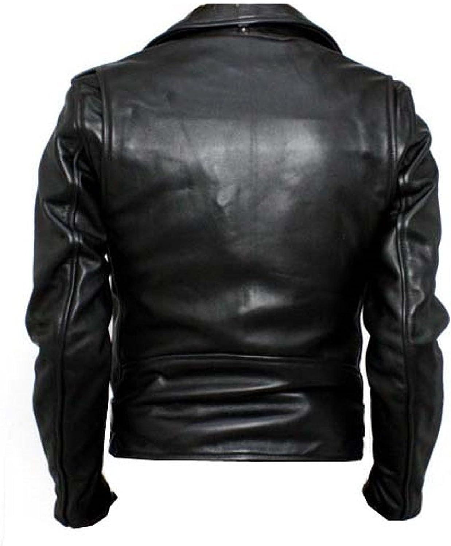Men Motorcycle Lambskin Leather Jacket Coat Outwear Jackets X781