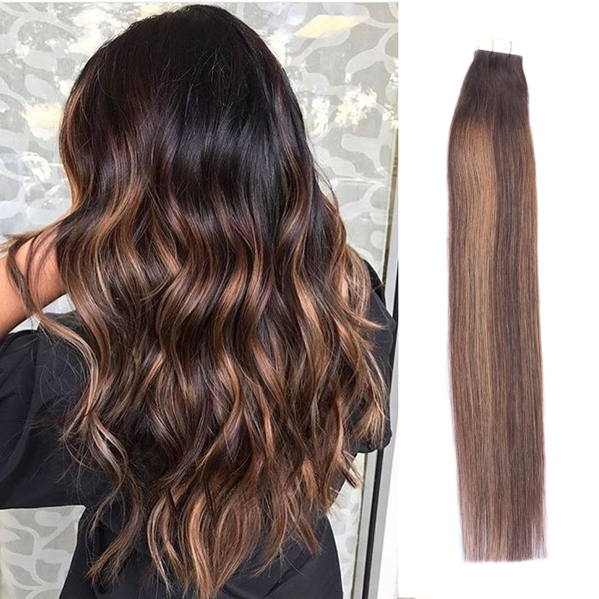 Amazon Tape In Extensions Beeos Remy Human Hair For Women