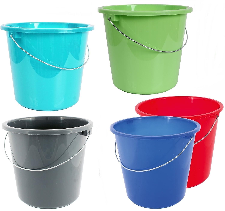 10 o 5 litri secchio intonaco secchio plastica acqua secchio casa tenuta secchio., Plastica, blu, 5 litri taschen-rucksack24de