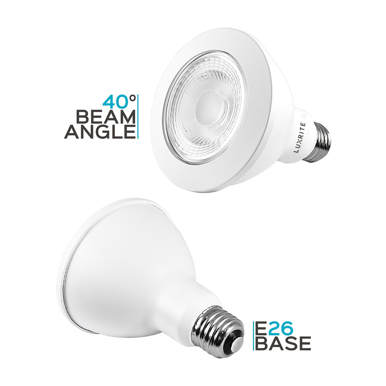 12 Pack 75W Equivalent Indoor//Outdoor Luxrite PAR30 LED Dimmable Bulb 12W LED Flood Light Bulb 850 Lumens E26 Base Energy Star /& UL Listed Damp Location 4000K Cool White