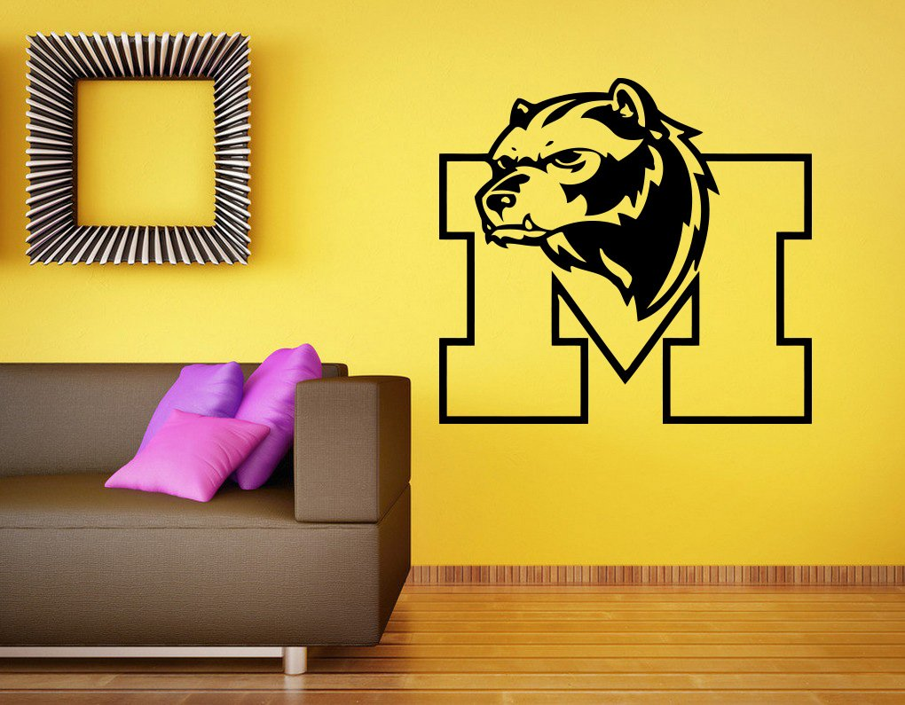 Amazon.com: Michigan Wolverines Wall Decal Vinyl Sticker NCAA ...