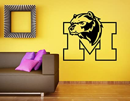 Michigan Wolverines Wall Decal Vinyl Sticker Ncaa College Football Home Interior Removable Decor 22 High X 26 Wide